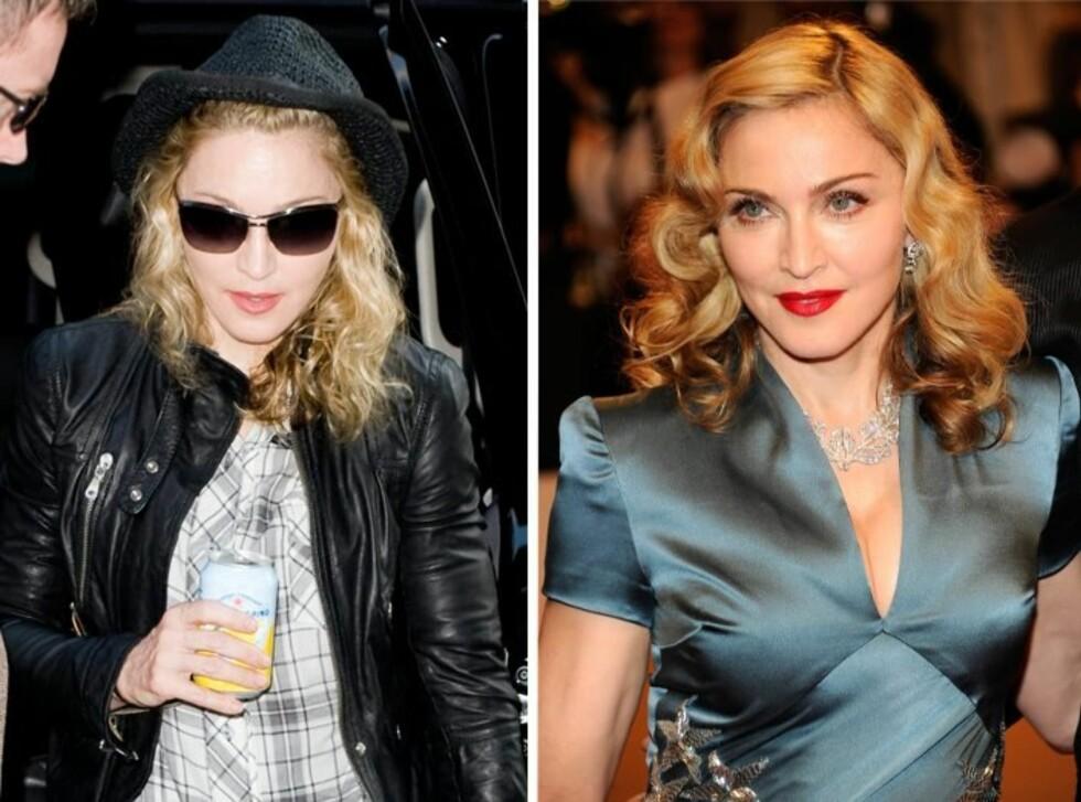 FRA SLITEN TIL SEXY: Madonna har alltid vært en mester av forvandling.  Foto: All Over Press