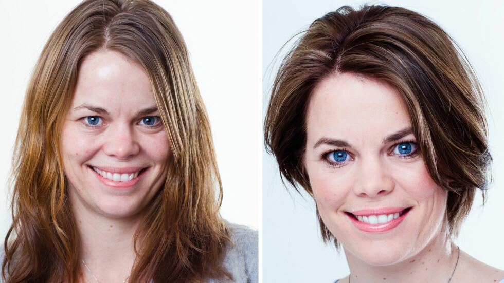 EN GANSKE STOR FORANDRING, ELLER HVA?: Cecilie ville ha en ny frisyre, og det fikk hun! Foto: Astrid Waller