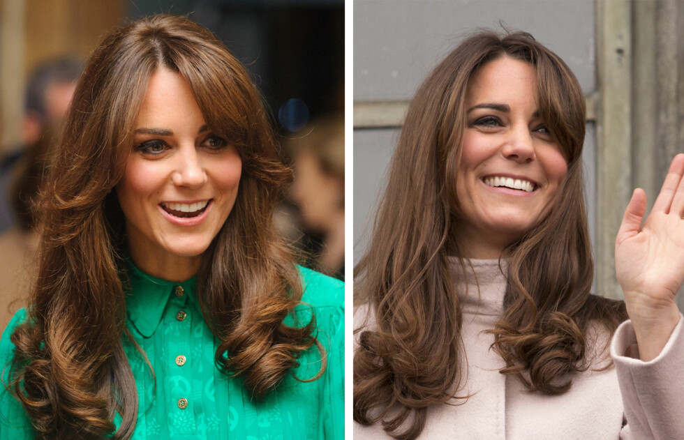 NY LUGG: Kate Middleton, hertuginnen av Cambridge, har fått en ny midtskillslugg. Her er hun under åpningen av en ny utstilling på the Natural History Museum i London tirsdag kveld.  Foto: All Over Press