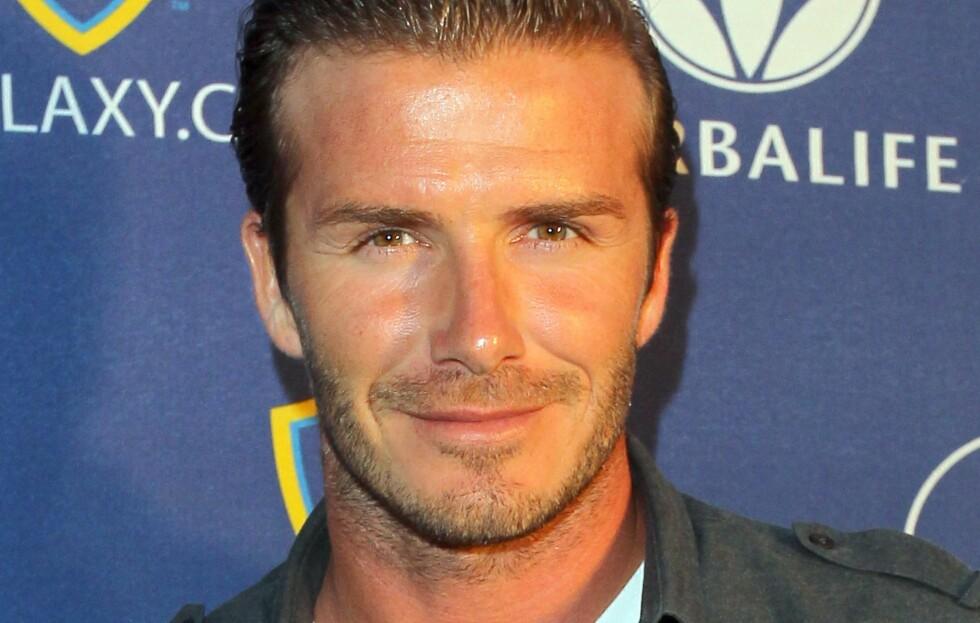 STILIKON: Trendsetter og fotballstjerne David Beckham skal designe for H&M. Foto: All Over Press