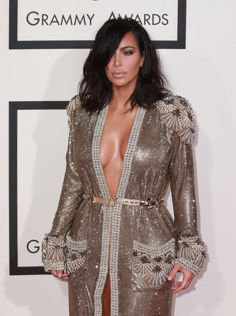 LANG BOB: Kim Kardashian er en av mange kjendiser som har klippet håret kortere.  Foto: Splash/ All Over Press