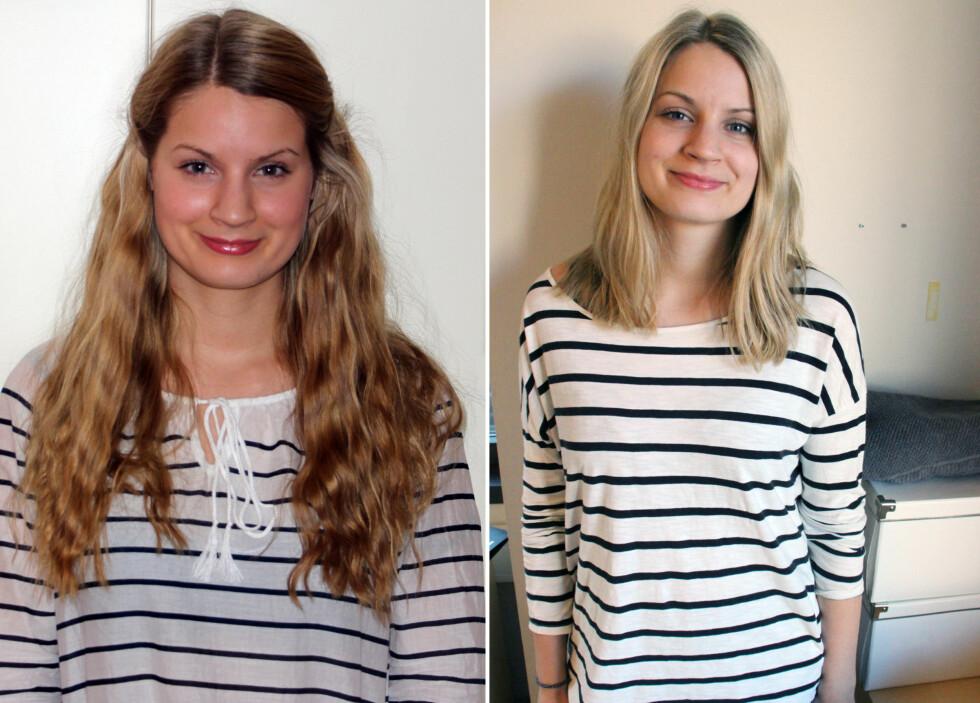 ALT ER SÅ MYE LETTERE: KKs egne Ronja Rognmo føler at håret har fått et løft, og det er ,ye lettere å både børste og style. Foto: KK-redaksjonen
