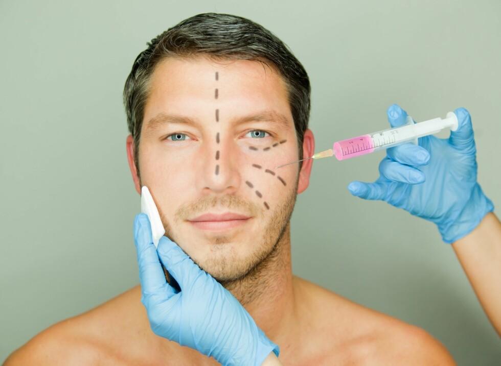 <strong>BOTOX:</strong> En del norske menn tar også botox mot rynker, først og fremst mellom øyebrynene. Foto: detailblick - Fotolia