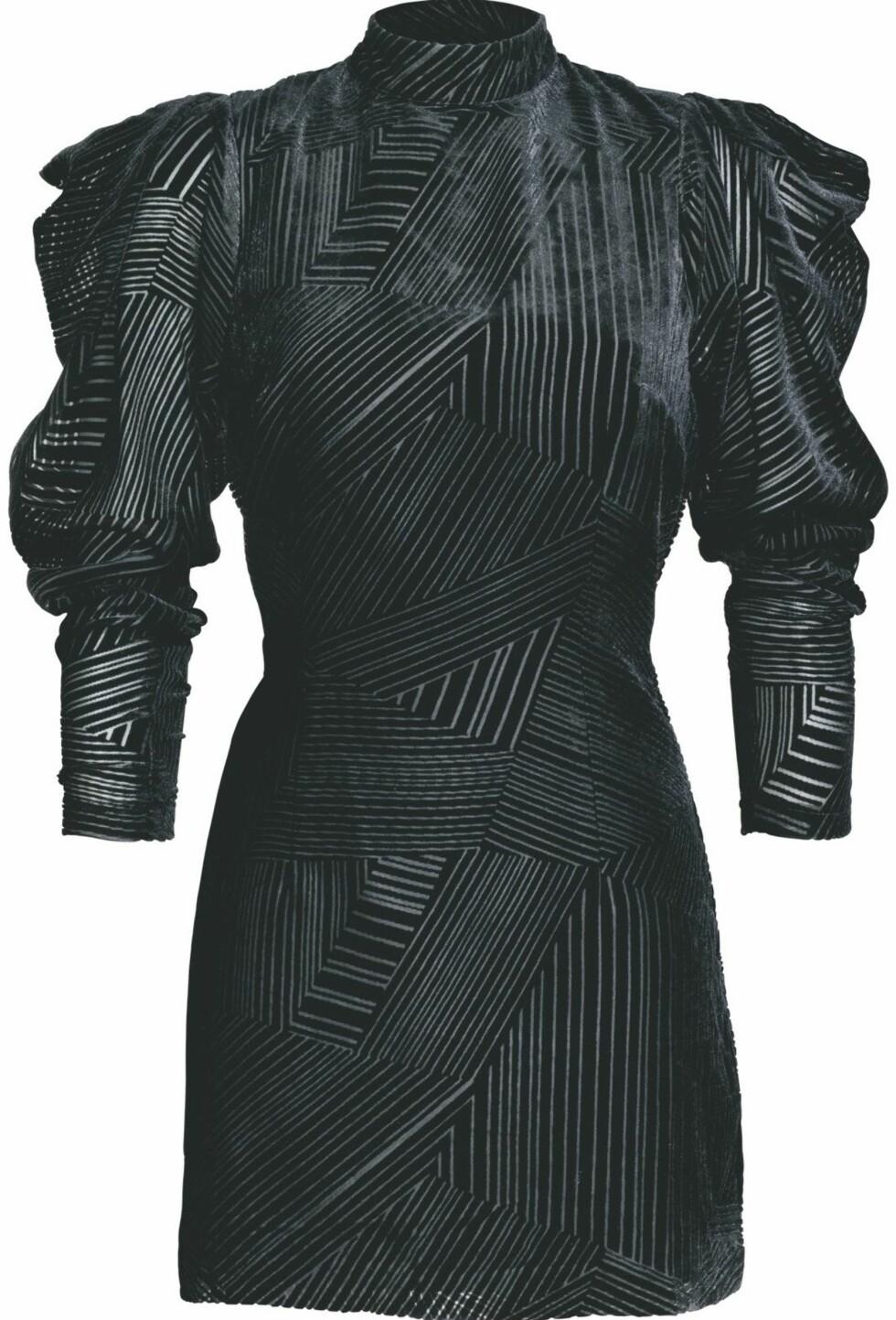 Skulpturert kjole med hals (kr 500, H&M).