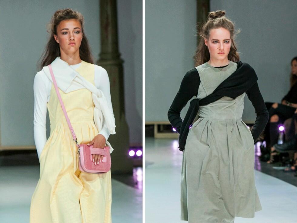 KNYT GENSEREN UNDER ARMEN: Slik vil designer Christina Ledang at du skal bruke genseren. Foto: Per Ervland