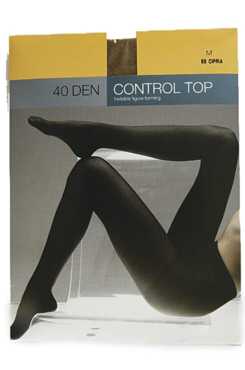 GODT KJØP: Svart strømpe som ikke strammer inn for mye, med store masker (kr 70, Cubus Control Top 40 den).