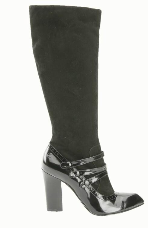 KULE DETALJER: Støvlett med fine lakkdetaljer (kr 950, Bronx).