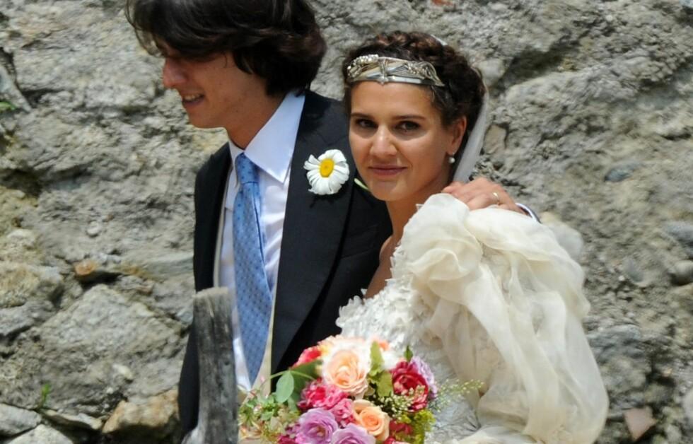 SIGØYNERBRUD: Margherita Missoni og Eugenio Amos giftet seg i helgen. Se den fantastiske kjolen! Foto: All Over Press