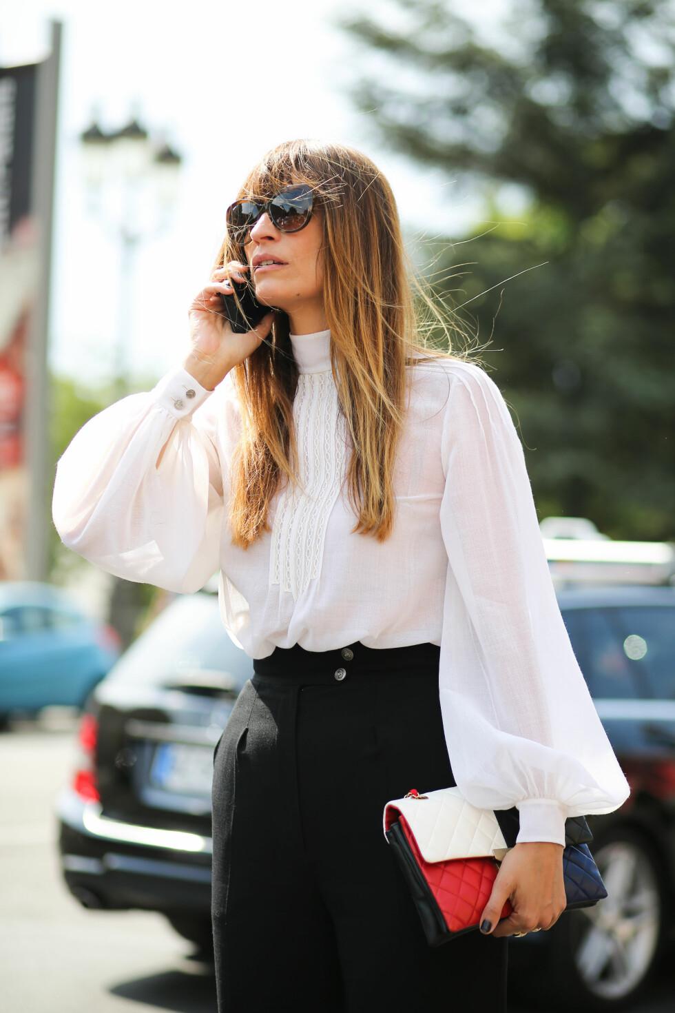 CAROLINE DE MAIGRET: I Paris før visningen til Chanel. Foto: Abaca