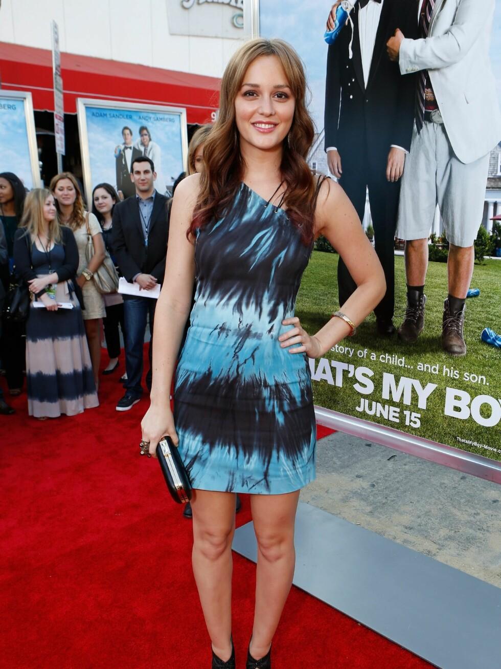 Gossip Girl-skuespiller Leighton Meester ser smashing ut i batikkjole.  Foto: All Over Press