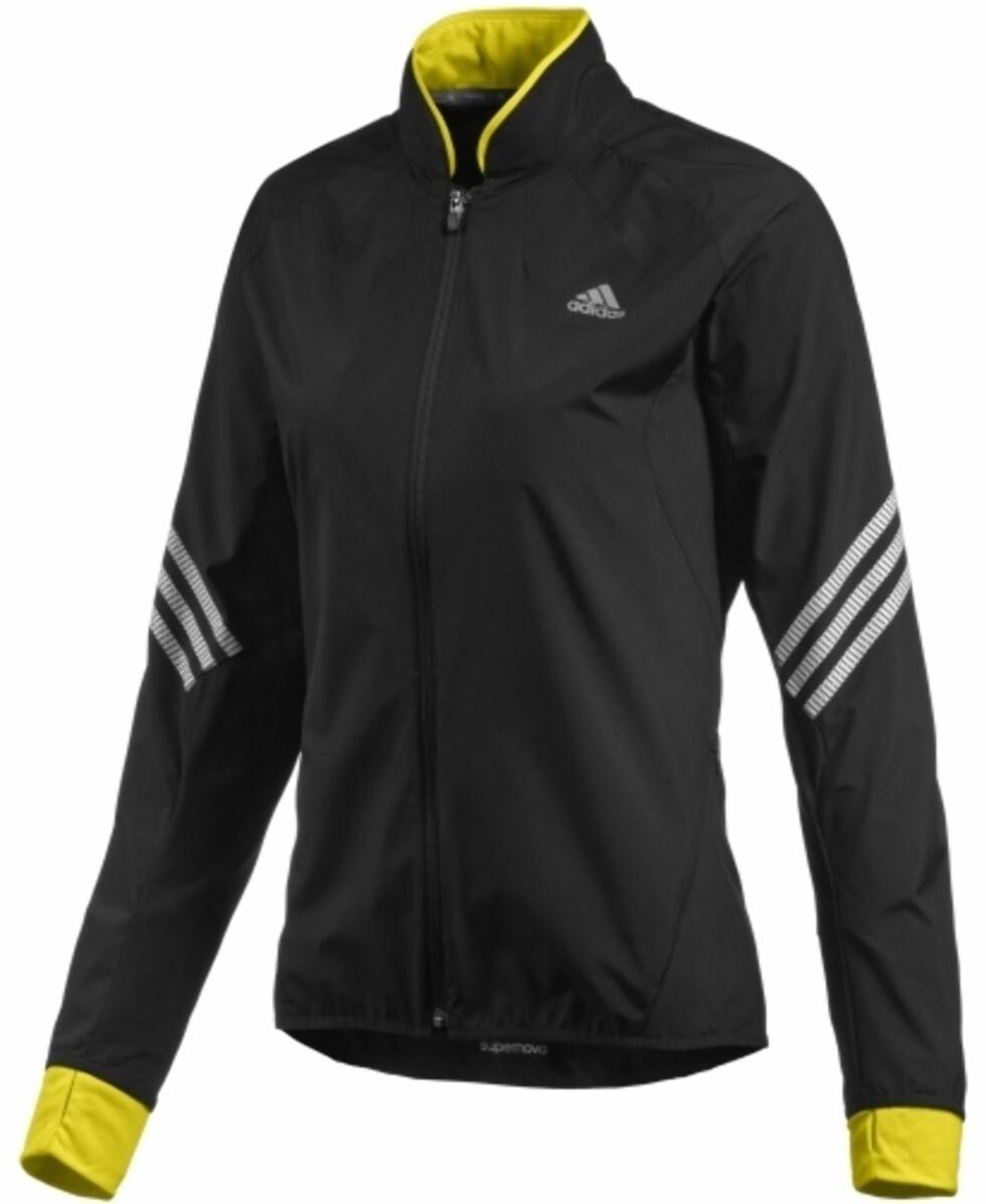 Løpejakke fra Adidas, kr 500 XXL. Foto: Produsenten