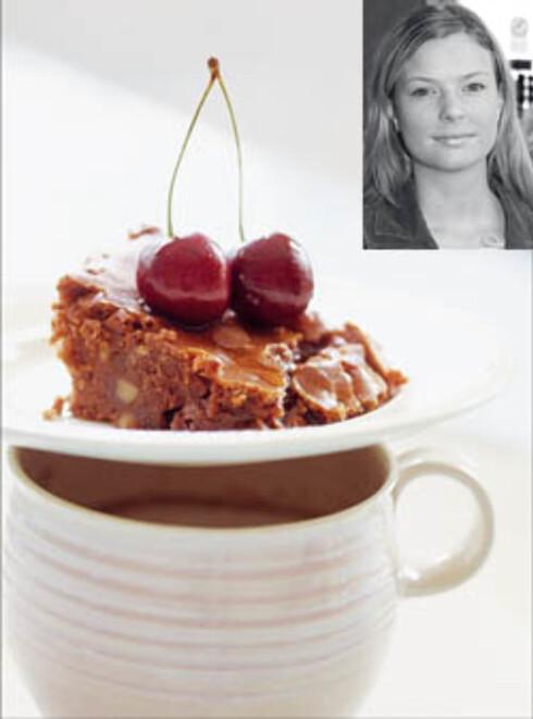Brownie med valnøtter (innfelt: Marion Myklebust)