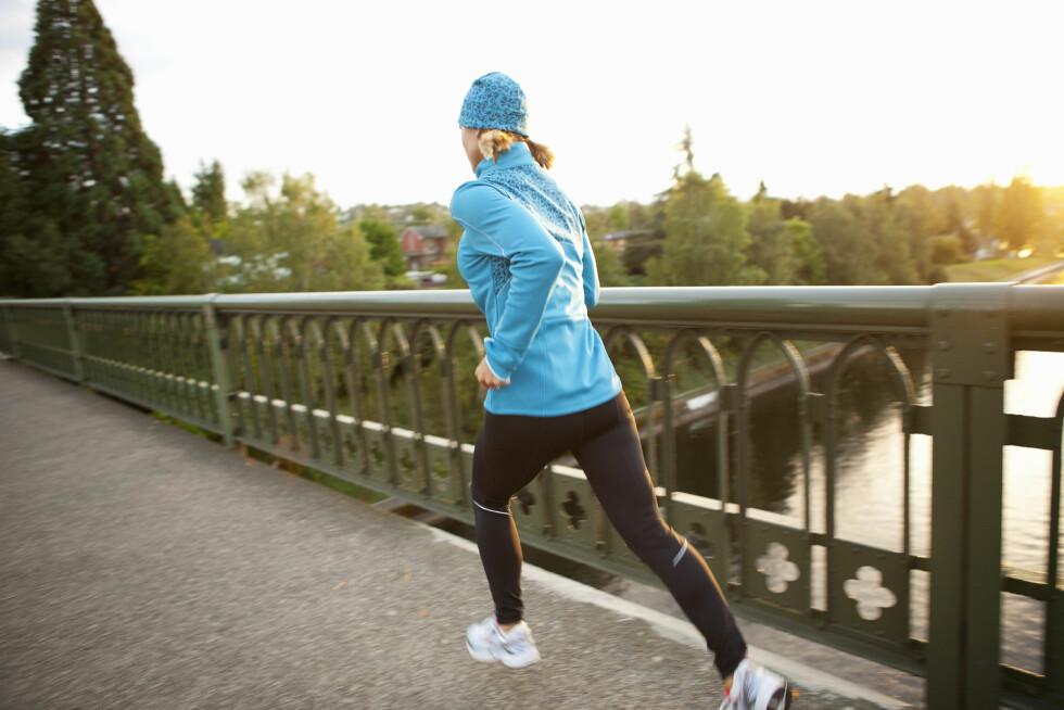 BLI STERKERE MED LØPING: Ja, du kan faktisk trene styrke når du løper! Foto: Pantherstock