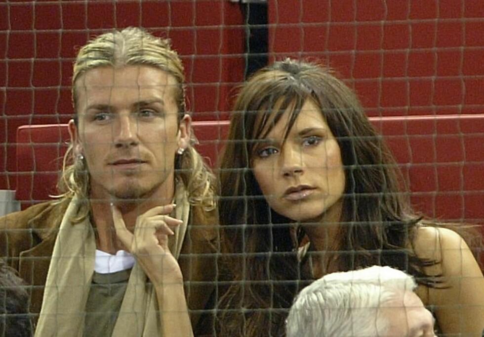 <strong>DEN GANG DA:</strong> David og Victoria Beckham har jobbet hardt for å komme over den tunge perioden de opplevde som ektepar på begynnelsen av 2000-tallet. Dette bildet er tatt i 2003. Foto: NTB Scanpix