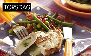 Koteletter med frisk bønnesalat