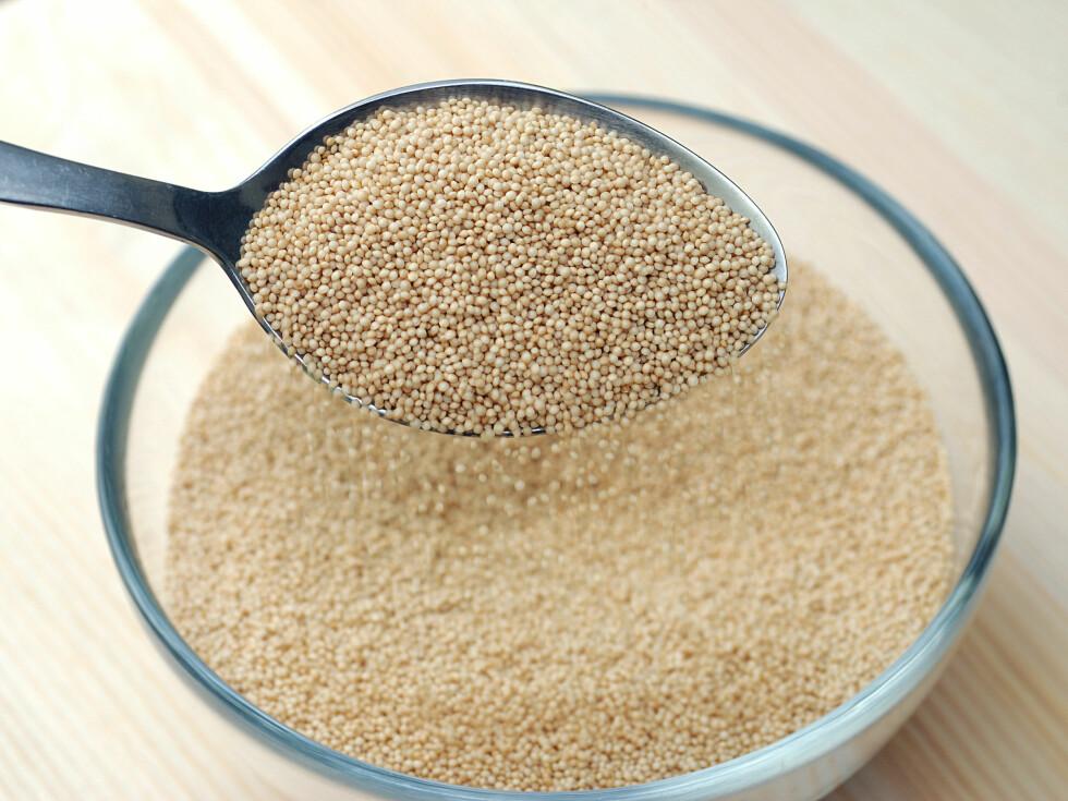 ALTERNATIV TIL GLUTEN: Amaranthmel er laget av et frø med høyt innhold av protein og kostfiber, og er et fint alternativ til gluten i bakst.  Foto: P.CH. - Fotolia