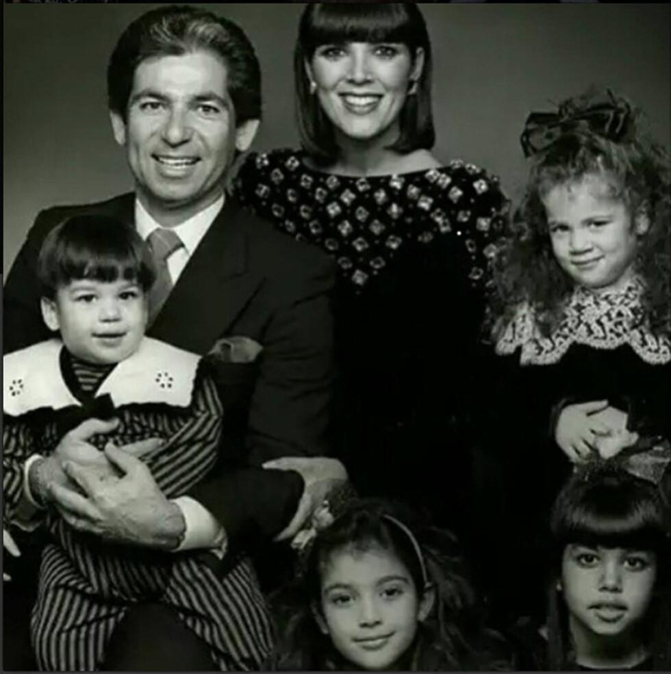 BAK FASADEN: Utad så familien Kardashian vellykket og svært lykkelige ut - men den gang ei. Ryktene vil ha det til at Kris Jenner både var utro og voldelig. Robert og Kris var gift i perioden 1978–1991. Han døde av sykdom i 2003. Foto: NTB Scanpix