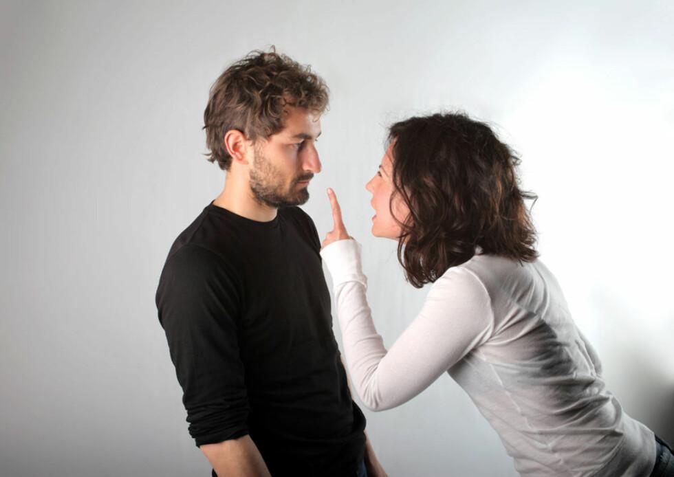 KRANGLING: Hva er sunn eller usunn krangling? Les samlivsterapeut Solveig Venneslands råd. Foto: NTB-Scanpix