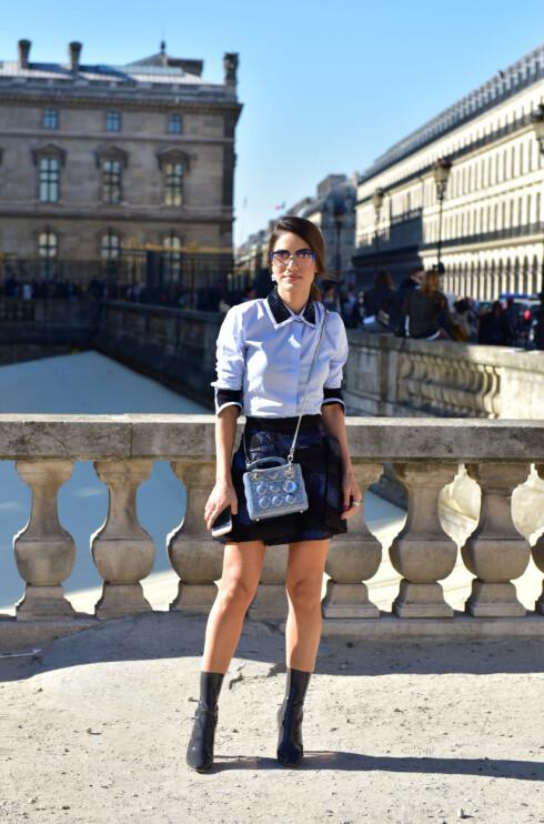 CAMILA COELHO: Gjør som it-jenta gjorde under Fashion Week og gå for trekvart lengde på ermene. Foto: DPA