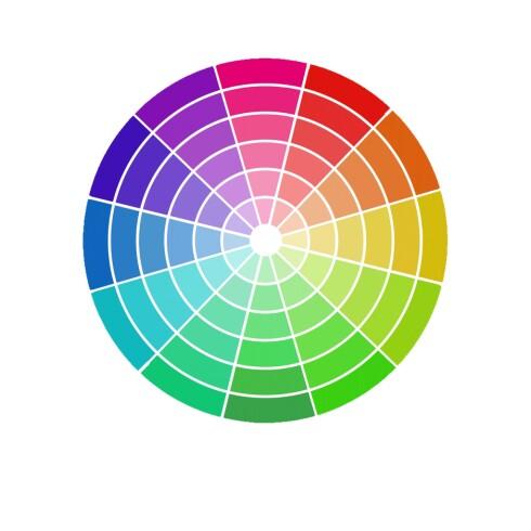FARGESIRKEL: Disse fargene komplementerer hverandre. Foto: Scanpix
