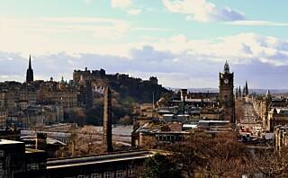 På historisk grunn i Edinburgh