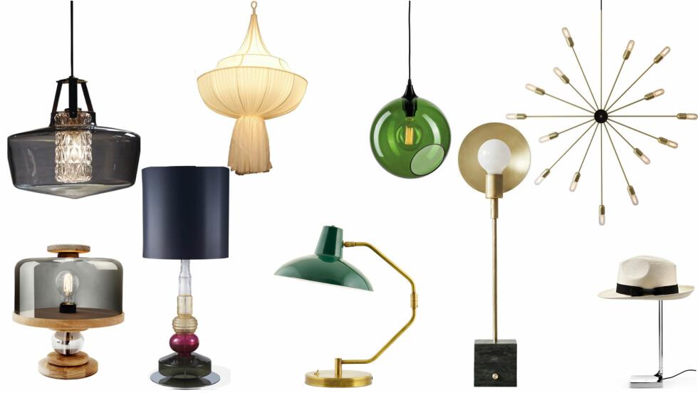 <strong>LAMPER:</strong> Gir herlig lys til et rom. Finn din favoritt i bildeseriene nedenfor! Foto: Produsentene