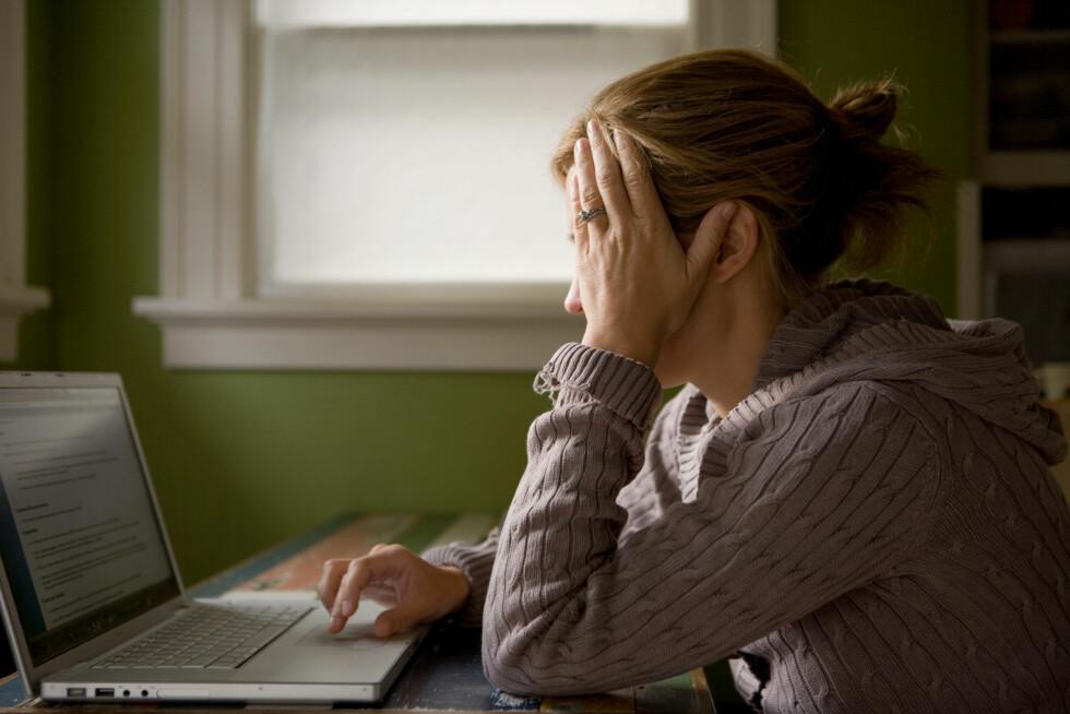 Woman using laptop Foto: Scanpix