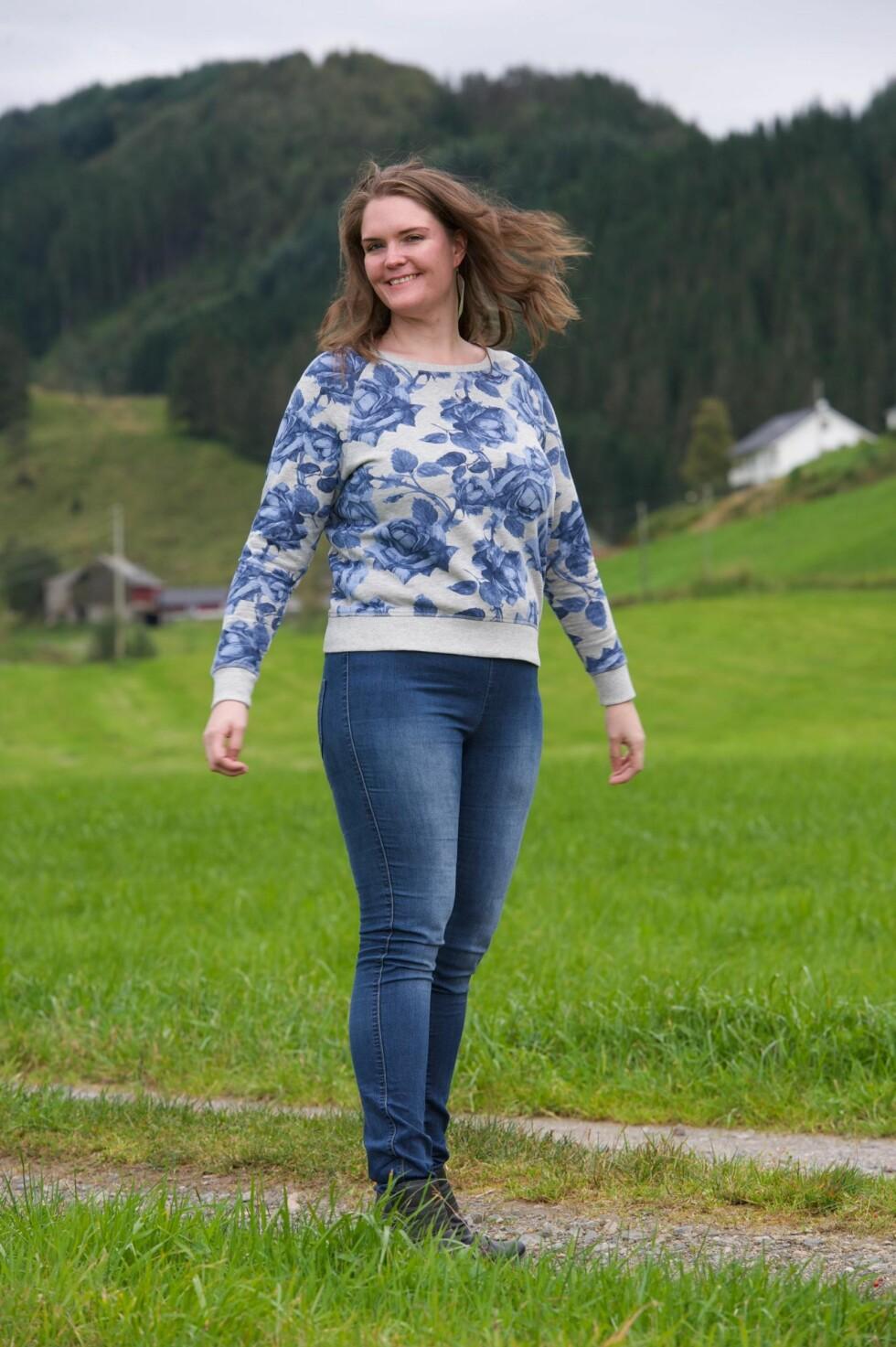 <strong>FRI OG FORNØYD:</strong> I dag veier Ingrid rundt 80 kilo. Nå hjelper hun andre gjennom bloggen sin – lavkarbotips.net – og hun utdanner seg innen kosthold.