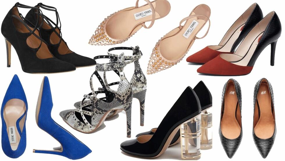 DET LILLE EKSTRA: Disse skoene kan gi antrekket ditt det interessante elementet det kanskje trenger! Foto: Produsentene, Net-a-porter.com, Zalando.no