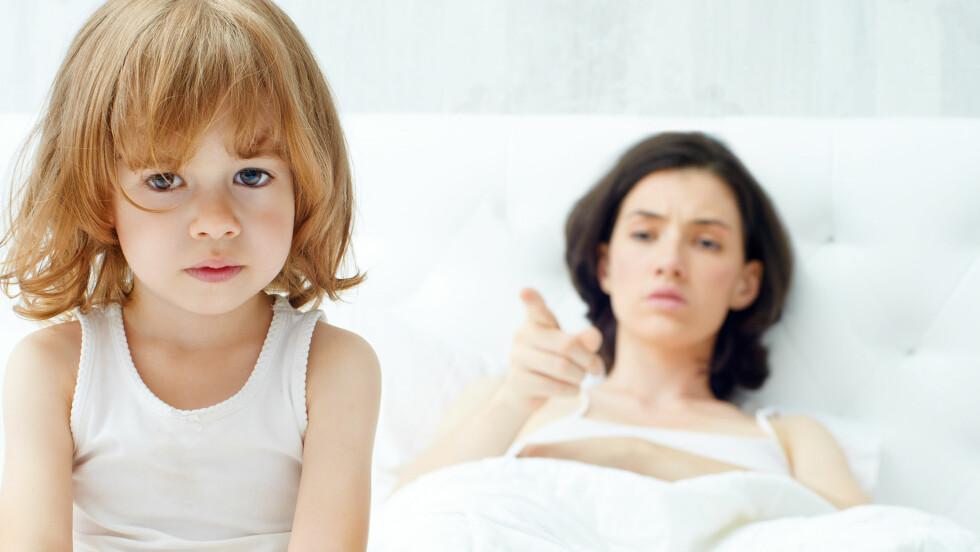 VOLD MOT BARN: Når barn tester grenser, kan det gjøre den roligste mamma sint. Spørsmålet er hvordan du håndterer frustrasjonen og sinnet.  Foto: NTB Scanpix