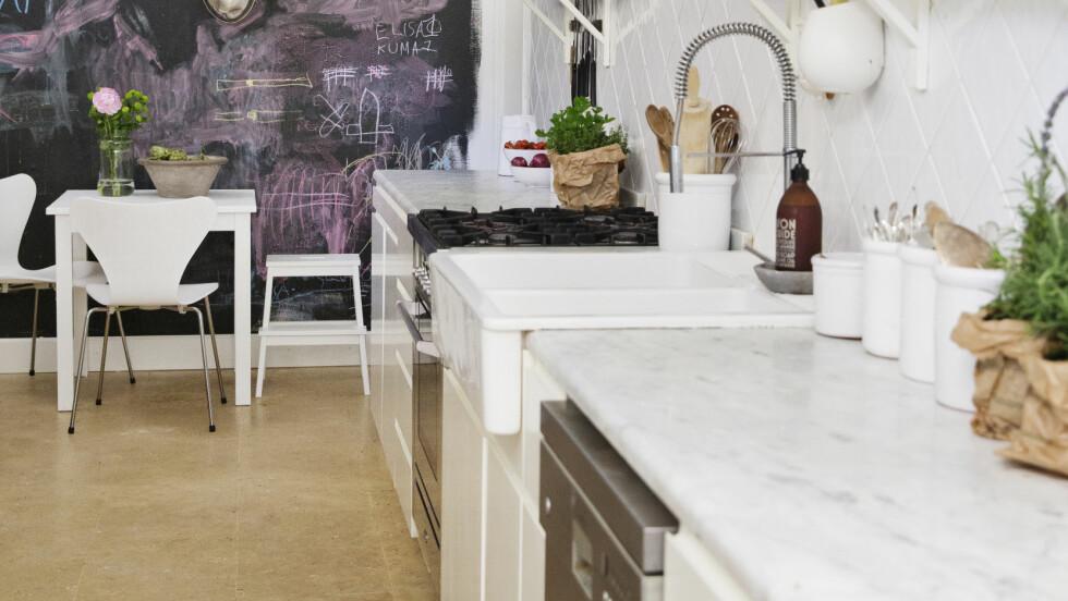 <strong>MARMOR:</strong> Marmor er superhot og superfint. Det er også blitt mer populært med marmor i andre farger enn hvitt.  Foto: Yvonne Wilhelmsen