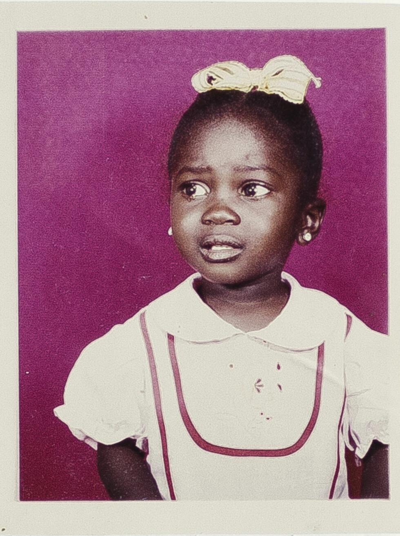 MÅTTE FLYKTE: Sonja er halvannet år på bildet, som ble tatt ikke lenge før hun og moren måtte flykte. Faren valgte å bli igjen for å krige i Sør-Sudan.  Foto: PRIVAT