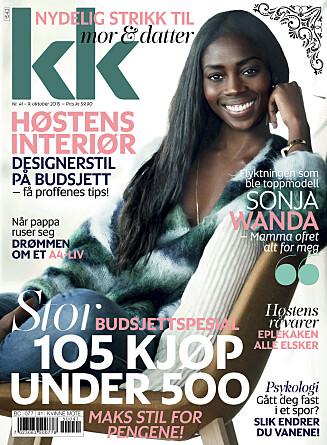 LØP OG KJØP: KK41 er i salg fra fredag 9. oktober. En krone av hvert solgte blad går til Flyktninghjelpen.  Foto: Astrid Walller / All Over Press Norway