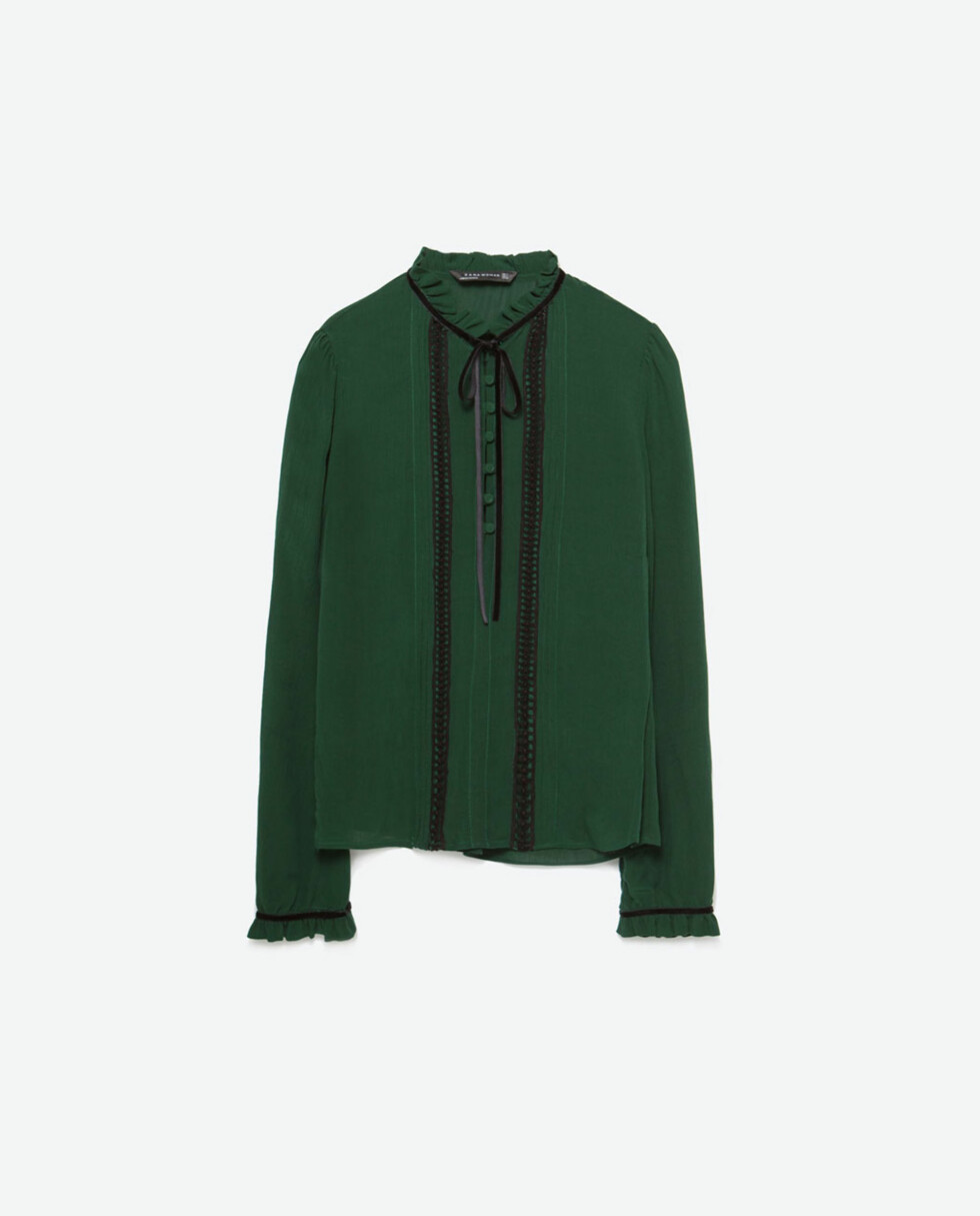 Bluse fra Zara, kr 399. Foto: Produsenten