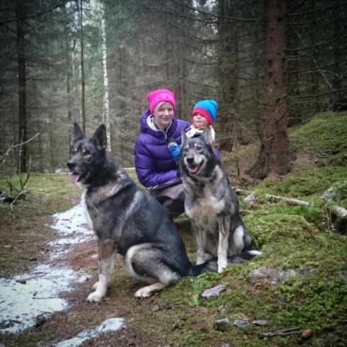 <strong>AKTIV FAMILIE:</strong> Lise elsker å være aktiv med familien sin så ofte hun kan.  Foto: Privat