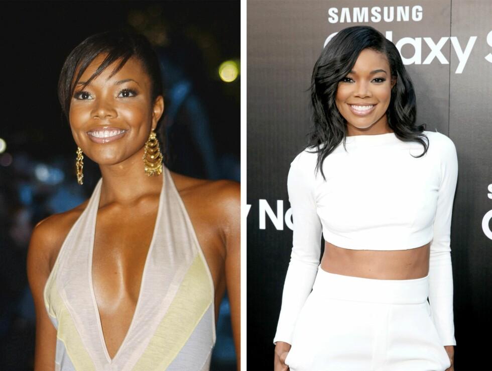 2003 OG 2015: 12 år skiller disse bildene av Gabrielle Union (42). Foto: Scanpix