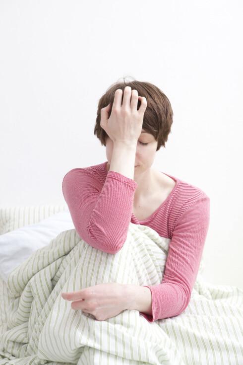 STRESS: Det kan være at du sover dårlig på grunn av stress, og stress over lengre tid har igjen bevist negativ effekt på helsen. Foto: Plainpicture