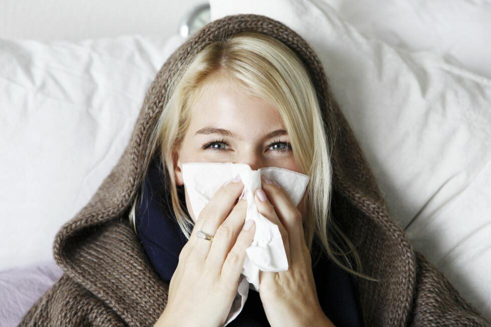 FORKJØLET: En ny studie viser at lite søvn faktisk kan gjøre risikoen større for å bli syk dersom vi blir smittet av et virus, Foto: Plainpicture