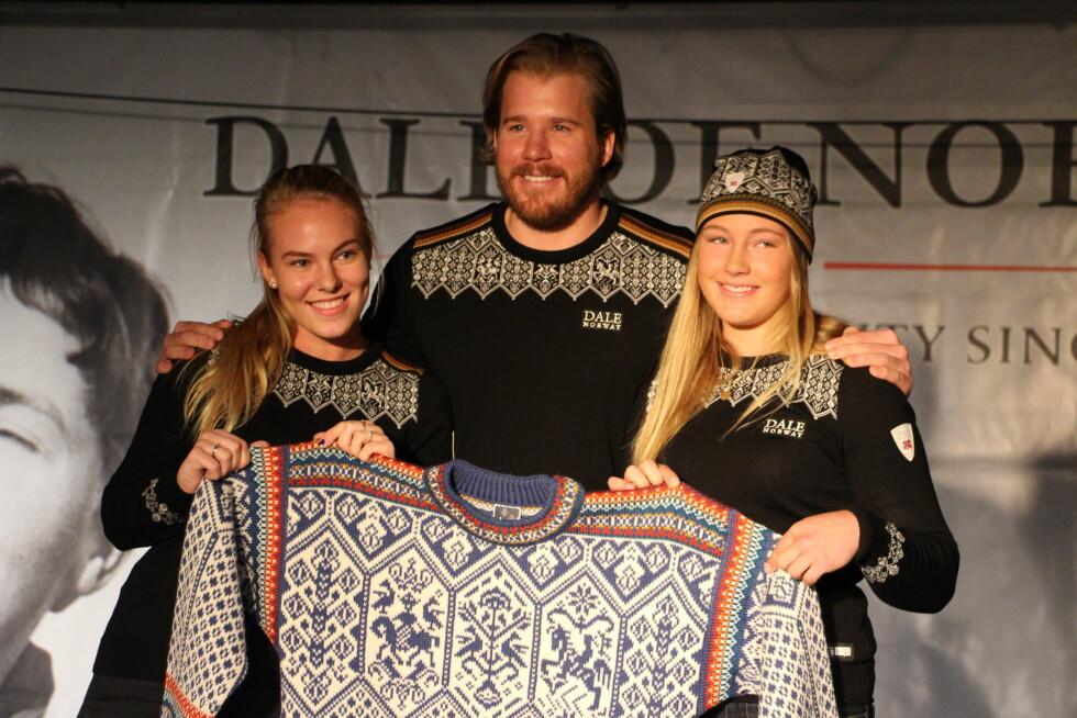 <strong>UNGDOMS-OL:</strong> Slik ser genseren til vinterens store begivenhet ut: Ungdoms-OL i Lillehammer. Kjetil Jansrud (30) poserer med to potensielle OL-deltakere. Foto: KK.no