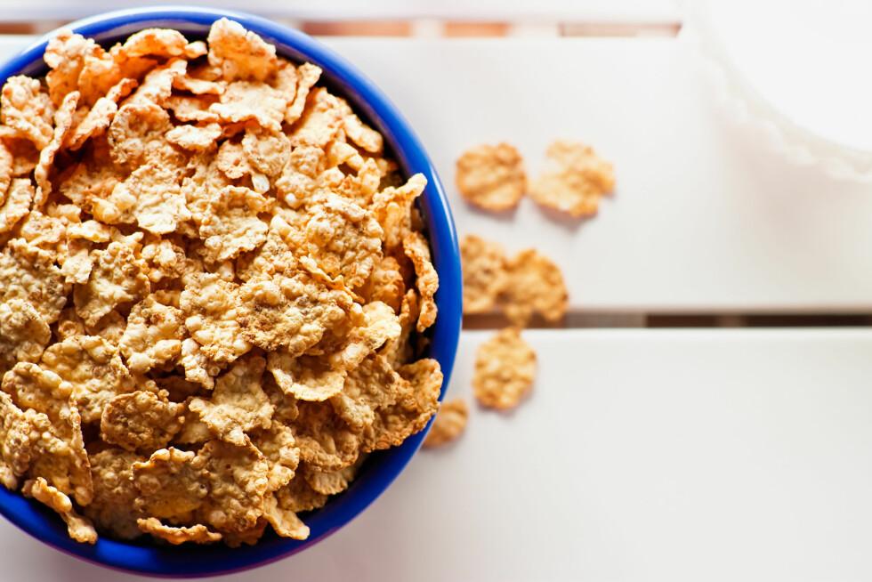 FREMSTÅR SOM SUNNE: Mange frokostblandinger som ser sunne ut kan være proppfulle av sukker og fett.  Foto: asclepio - Fotolia