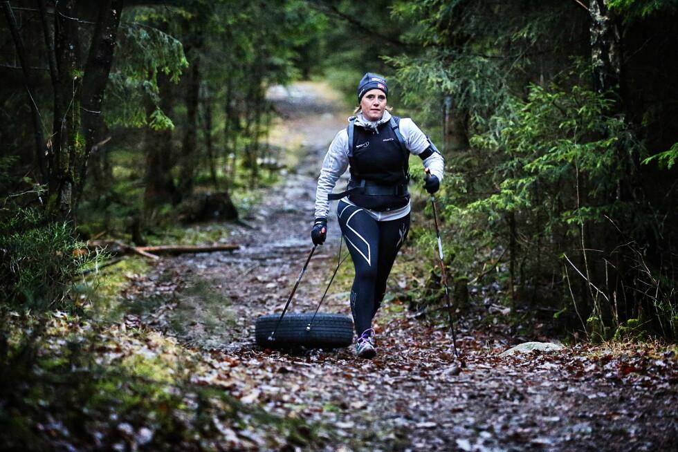 TRENER MYE: I år er det ti år siden hun var med i Slankekrigen, og Linda har klart å opprettholde formen siden den gang.  Foto: Mattis Sandblad/VG