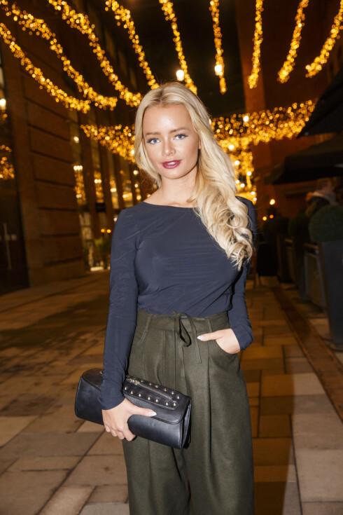 OSLO  20141125. Blogger Sophie Elise Isachsen ankommer TV2 sin vårlansering på Latter i Oslo tirsdag kveld. Foto: Heiko Junge / NTB scanpix Foto: NTB scanpix