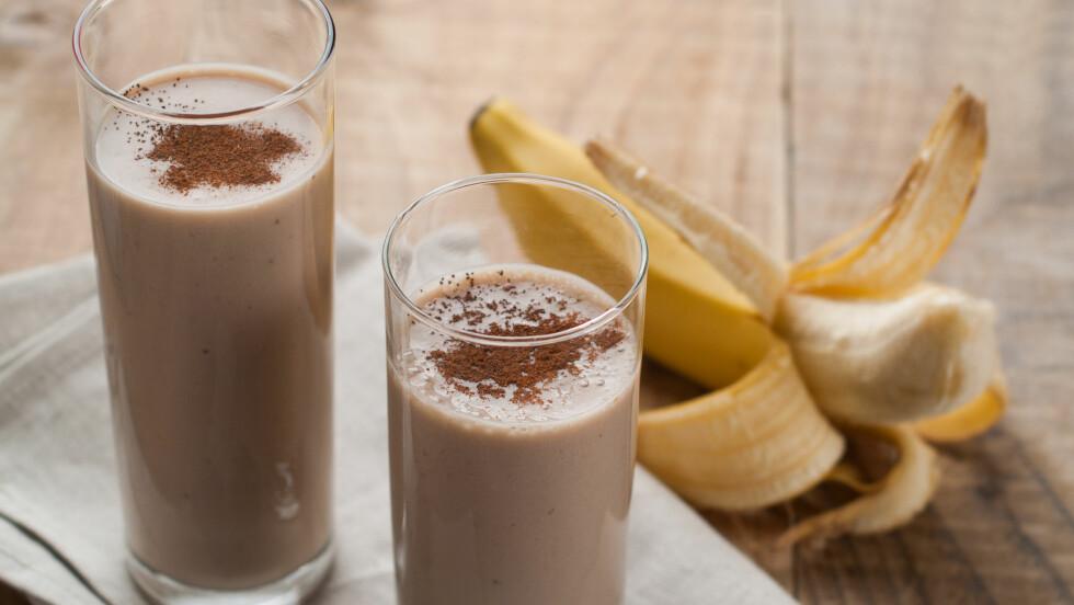SJOKOLADEMELK: Sjokolademelk er bra å drikke etter en tung treningsøkt fordi det bidrar til rask restitusjon og bygging av muskler.  Foto: Viktorija - Fotolia