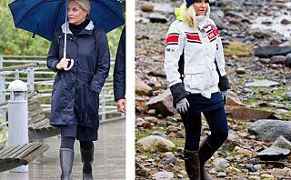 Mette-Marit sverger til designerstøvletter i uværet