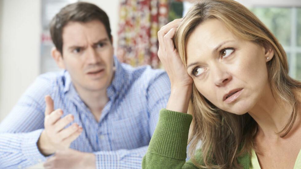MOBBING I PARFORHOLDET: Mobbing, takassering og vold i parforholdet er noe vi sjelden snakker med venner og familie om. Det er skambelagt og offeret er ofte redd og flau over situasjonen. ILLUSTRASJONSFOTO