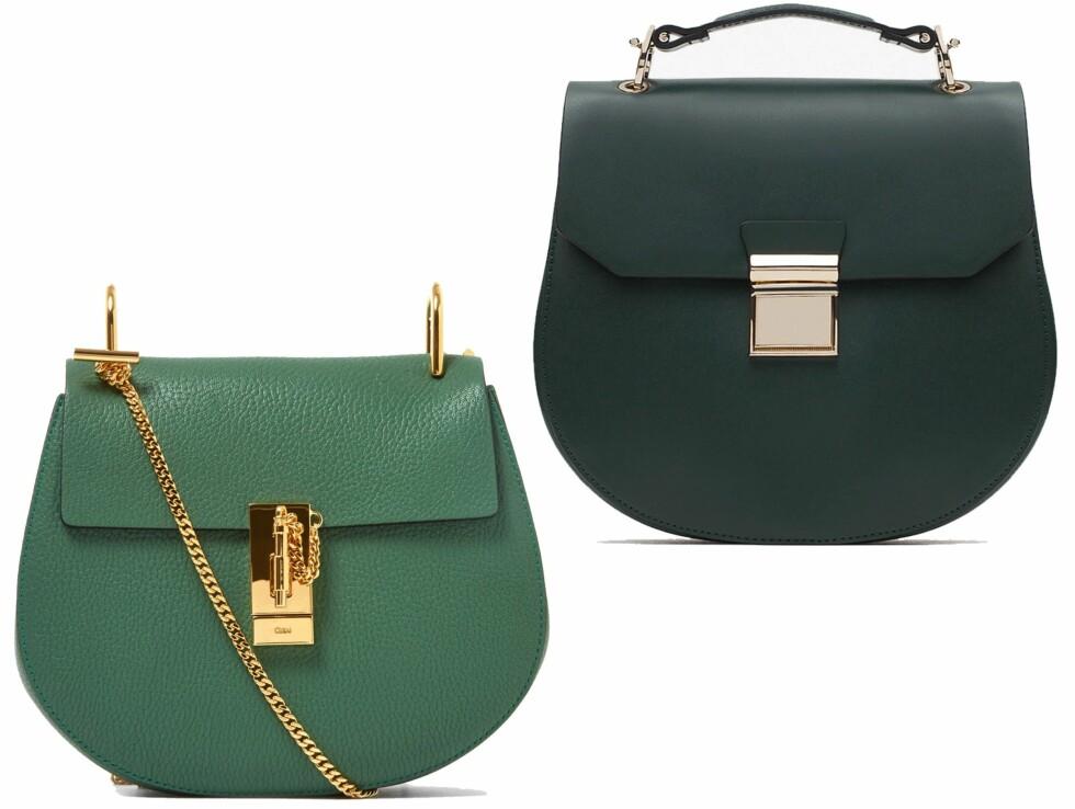 BILLIG VS DYR: Vesken til venstre er fra Chloe via Liberty.co.uk og koster cirka kr 13200. Vesken til høyre er fra Zara og koster kr 299. Foto: Liberty.so.uk, produsenten