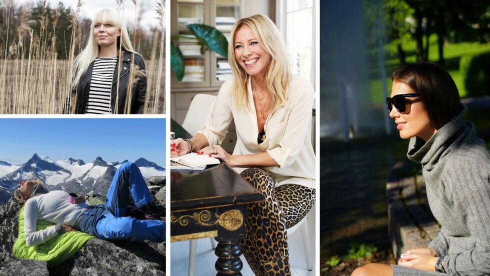 DE NYE BLOGGERNE: Camilla Prytz, Elisa Røtterud, Laila Madsö og Tone Damli har blitt med i KK og STYLEmags-bloggjeng. Foto: Emma Sukalic, privat, Tonedamli.com