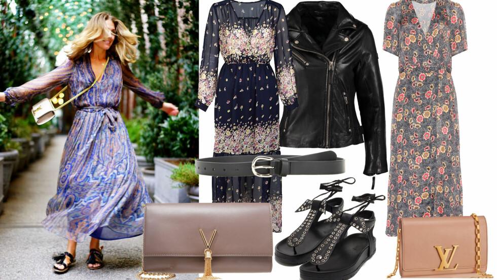 TONE DAMLIS KLESSTIL - SLIK KOPIERER DU DEN: En kjole kan styles på så mange måter, og kan brukes uansett sesong. Stjel stilen lenger ned i saken.  Foto: TONEDAMLI.COM og Produsentene.