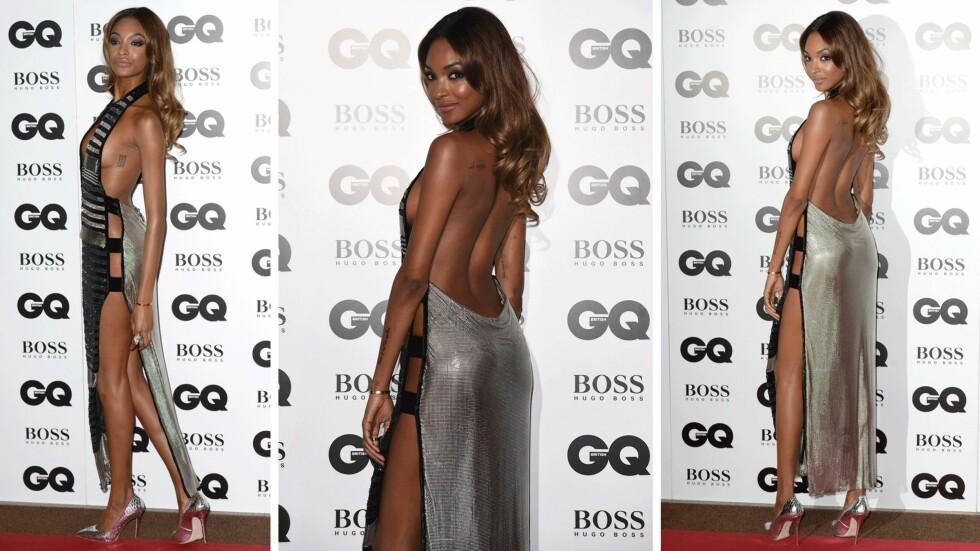 LEKKER: Modellen, som også er i stallen til undertøysgigant Victoria's Secret, så råsexy ut, selv om kjolen ikke høstet noen lovord fra moteeksperten.  Foto: Scanpix