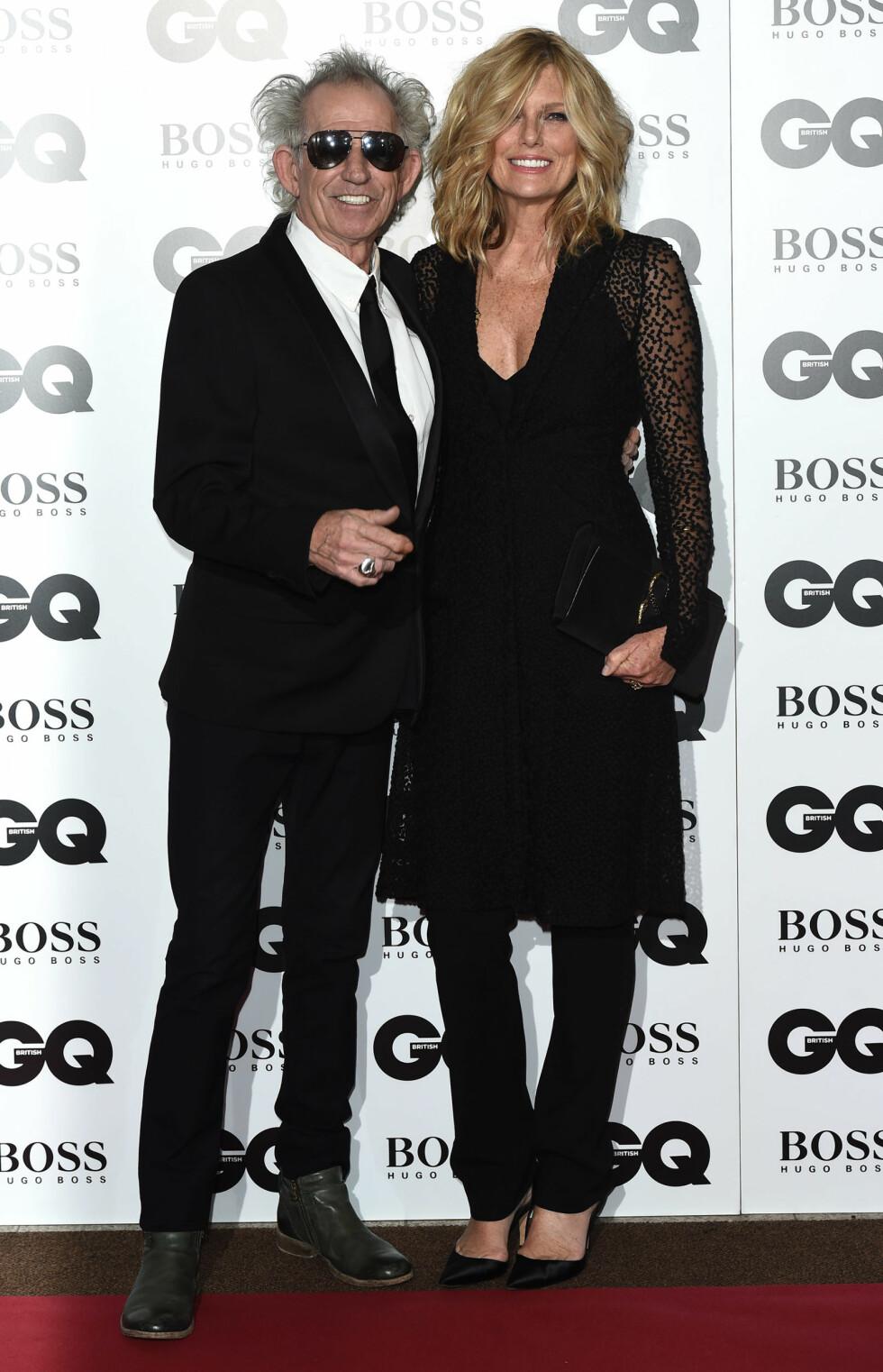 GQ AWARDS: Keith Richards (71) og Patti Hansen (59). Foto: Xposure